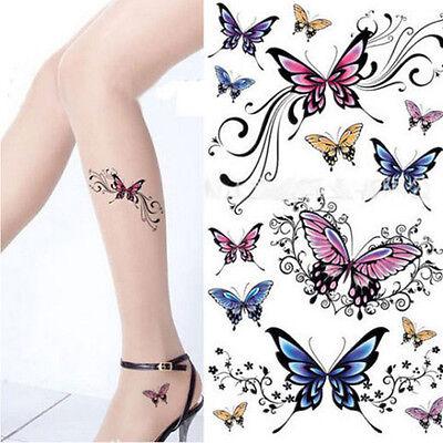 Beauty Removable Waterproof Temporary Tattoo Butterfly Tattoo Bodies Art Sticker