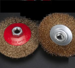 3 X Kegelbürste Gewellt M14 Drahtbürste Scheibenbürste Für Flex Winkelschleifer