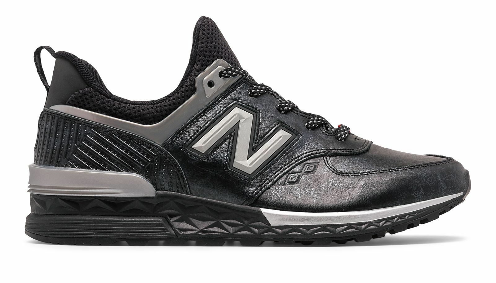 New Balance Men's 574 Sport Black Panther shoes Black with Silver