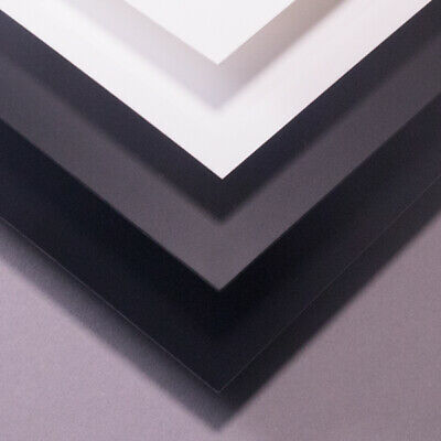 Plasticard 2.0mm A4+ Styrene Black White Clear 10 20 30 40 60 80 Thou 0.25mm