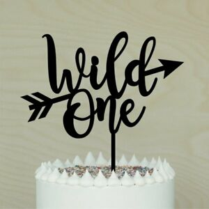 Wild One Cake Topper Acrylic / Timber 1st Birthday Party ...