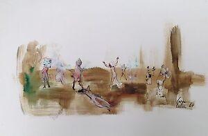 Cara-Costea-philippe-encre-et-gouache-sur-papier-signee-datee-1960-art-danse