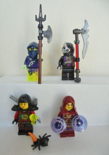 4 X Lego Figurines Ninjago Ming esprit Nindroid ña Clouse armes NEUF Ninja Personnage