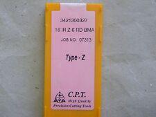 Gewindeplatten von CPT, Typ Z, 16IR Z 6 RD BMA, wie R166.OL/266RL Rundgewinde