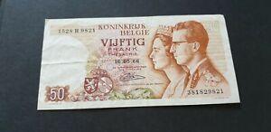 50-francs-frank-Belgique-Belgie-1966-Baudouin-Fabiola-16-05-66-Boudewijn