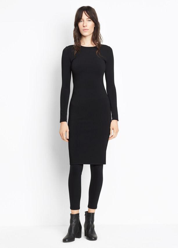 NEW Vince. Fitted Dress in schwarz - Größe L