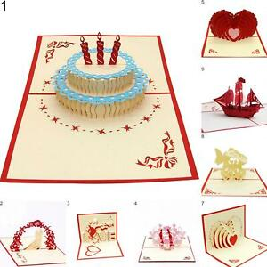 Miraculous Heart Ship Birthday Cake Handmade 3D Pop Up Holiday Christmas Funny Birthday Cards Online Necthendildamsfinfo