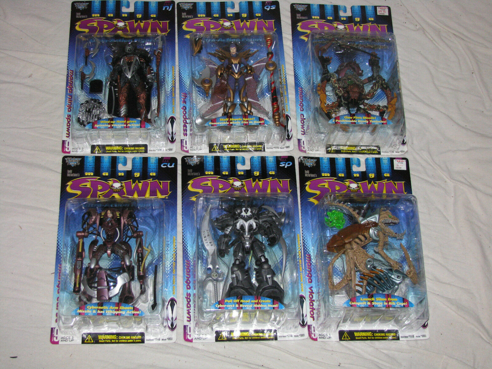 MANGA SPAWN Series 9 Repaint Set - purpletor,Clown,Goddess,Curse,Ninja,Spawn