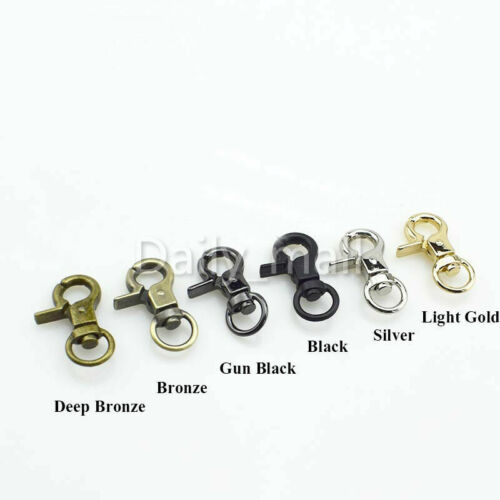 Alloy Plated Swivel Round Eye Bolt Snap Hook Keychain Bag strap Lobster Clasp