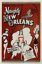 Naughty New Orleans Vintage Vices Movie Film Louisiana Print Poster 16x24