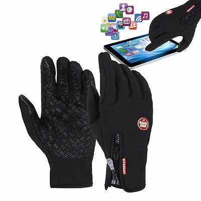 Unisex Touch Screen Fleece Thermal Winter Warm Gloves for Cycling