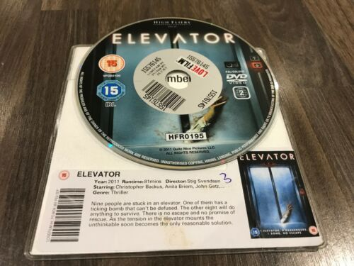 1 of 1 - Elevator (DVD, 2012) DISK ONLY