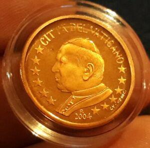 MONNAIE EURO VATICAN BE 2004 2 cent JEAN PAUL II RARE UNC BELLE ÉPREUVE.refA244