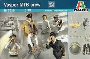 Italeri-1-35-5616-WWII-British-Royal-Navy-Vosper-MTB-Crew-7-Figures