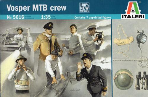 Italeri 1//35 5616 WWII British Royal Navy Vosper MTB Crew 7 Figures