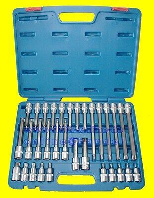 BGS 5182 Bitsatz TORX 55 100 140 200mm kurz & lang TX 32tg Koffer NEU