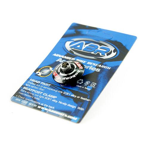 ABR 1-1/8 Alloy MTB Mountain / Road Bike Bicycle Stem Headset Top Cap - Black