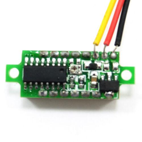 environ 0.71 cm Mini DEL numérique 0.28 in 2.5V-30V DC Voltmètre Testeur de tension Meter