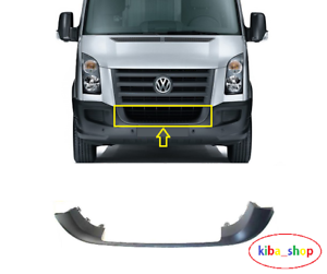 VW CRAFTER 2006-2017 FRONT BUMPER MOULDING TEXTURED CENTER GRILL FRAME BLACK