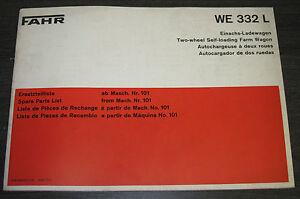Ersatzteilliste-Fahr-Einachs-Ladewagen-WE-332-L-Ersatzteilkatalog-Spare-Parts