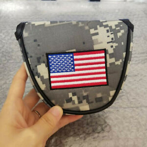 1x-USA-Flag-Militay-Mallet-Putter-Cover-Golf-Headcover-for-Scotty-Odyssey-2Ball