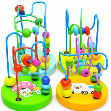 Educational Game Toy Children Kids Baby Colorful Wooden Mini Around Beads