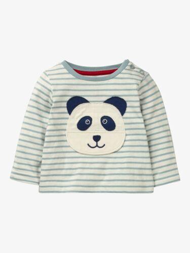 """557 Baby Boden Nouveauté /""""Soulever le rabat/"""" Panda Face À Rayures Haut à manches longues Nouveau"""