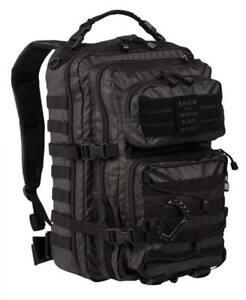 Mochila-tactica-36-litros-negra-Miltec-casual-molle-correas-ajustable-militar