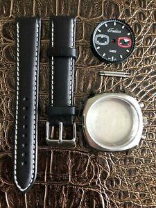 TRADITION Uhrenkit Retro Chronograph fürETA Valjoux 7733 SWISS MADE Uhrengehäuse