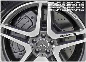 Details Zu Amg Alte Logo Bremssattel Felgen Aufkleber 87mm 8stk Satz