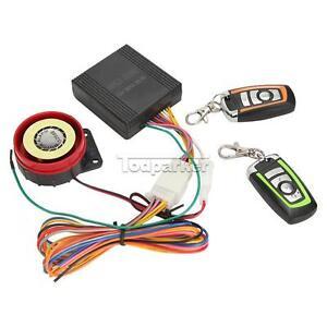 12v Motor Bike Anti Theft Security Alarm System Kit Remote Control Engine Start Ebay