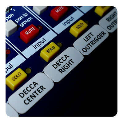 Blank Magnetic Labels MIDAS Mixers