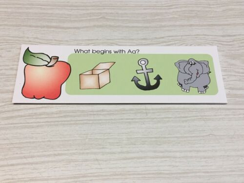What Begins With Aa A -Z PHONICS set Laminated Activity Set Zz COMPLETE