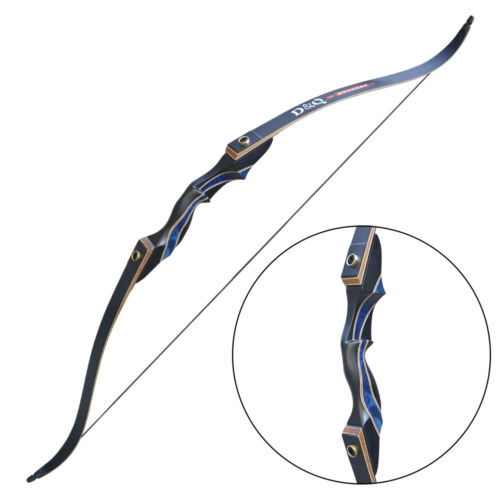 """45Ibs 56"""" Archery Recurve Bow Longbow Takedown Target Outdoor Hunting Right Hand"""