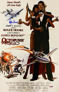 Details About Roger Moore Signed James Bond 007 Movie Poster Photo 11 X 17 Psa Dna Coa 9