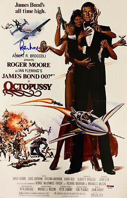 Roger Moore Signed James Bond 007 Movie Poster Photo 11 X 17 Psa Dna Coa 9 Ebay