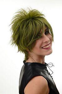 Damenperuecke-Peruecke-kurz-toupiert-wilde-Straehnen-80er-Wave-Punk-Gruen-BLUE144