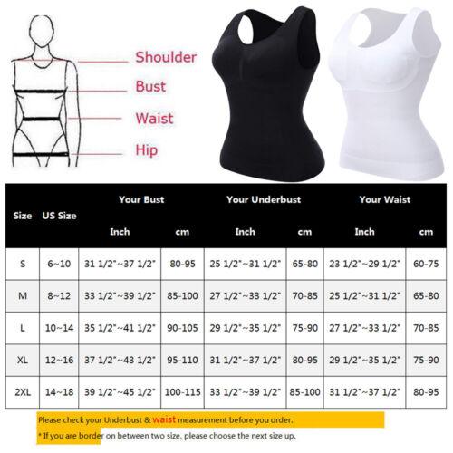 Women/'s Body Shaper With Bra ShapeWear Tank Top Slimming Camisole Spandex Shirt
