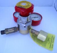 Tescom Two Gauge Gas Regulator Hi920a-300 W/ Brass Fittings