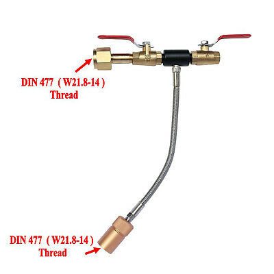"W21.8-14 Co2 Fill Station With 10"" High Pressure Hose Dual Valve Lovely Din477 Kitchen, Dining & Bar"