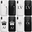 Personalised-Initial-Phone-Case-Clear-Hard-Cover-with-Crown-For-Apple-Iphone-11 miniatuur 1