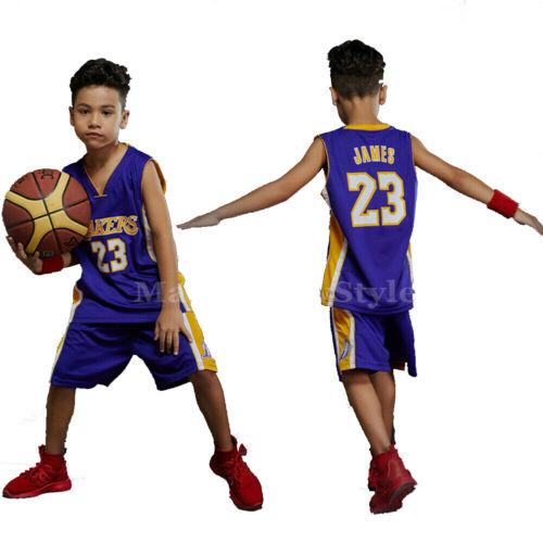 Junior LAL James#23 Basketball Jerseys Kids Shorts Set Sportswear 2-10 years Kit