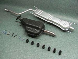 Auspuffanlage-Opel-Zafira-A-1-6-16V-1-8-16V-amp-2-2-16V-Auspuff-Chrom-Endrohr