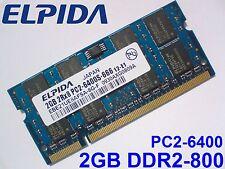 2GB DDR2-800 PC2-6400 ELPIDA 800Mhz LAPTOP NOTEBOOK SODIMM RAM MEMORY SPEICHER