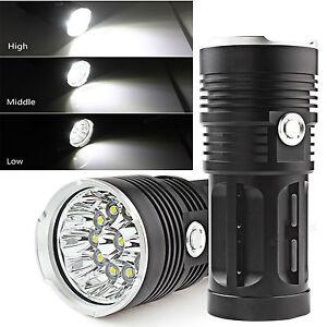 32000LM-SKYRAY-12-x-CREE-XM-L-T6-LED-Torch-4-x-18650-Hunting-Lamp-Flashlight