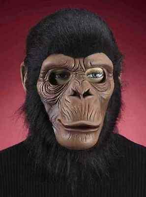 Chimpanzee Mask Monkey Ape Animal Fancy Dress Halloween Adult Costume Accessory