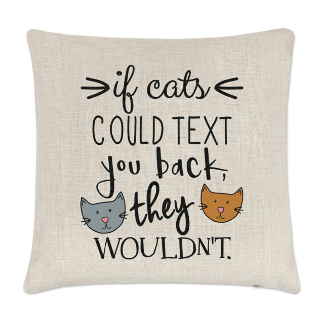 Crazy Lady If Cats Could Text You Back They Wouldn/'t Coaster Drinks Mat