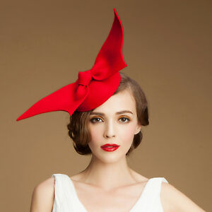 "12266bfad79 A194 ""Angel Wings"" Ladies Felt Wool Fascinator Cocktail Formal Race ..."