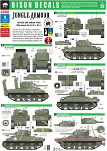 Bison-Decals-1-35-Jungle-Armour-Shermans-in-Burma-35001