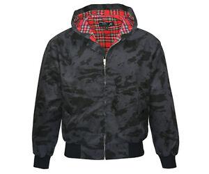 Heavy KB Hooded Harrington Jacket Russian Tartan Lined Punk Skinhead Kapuze